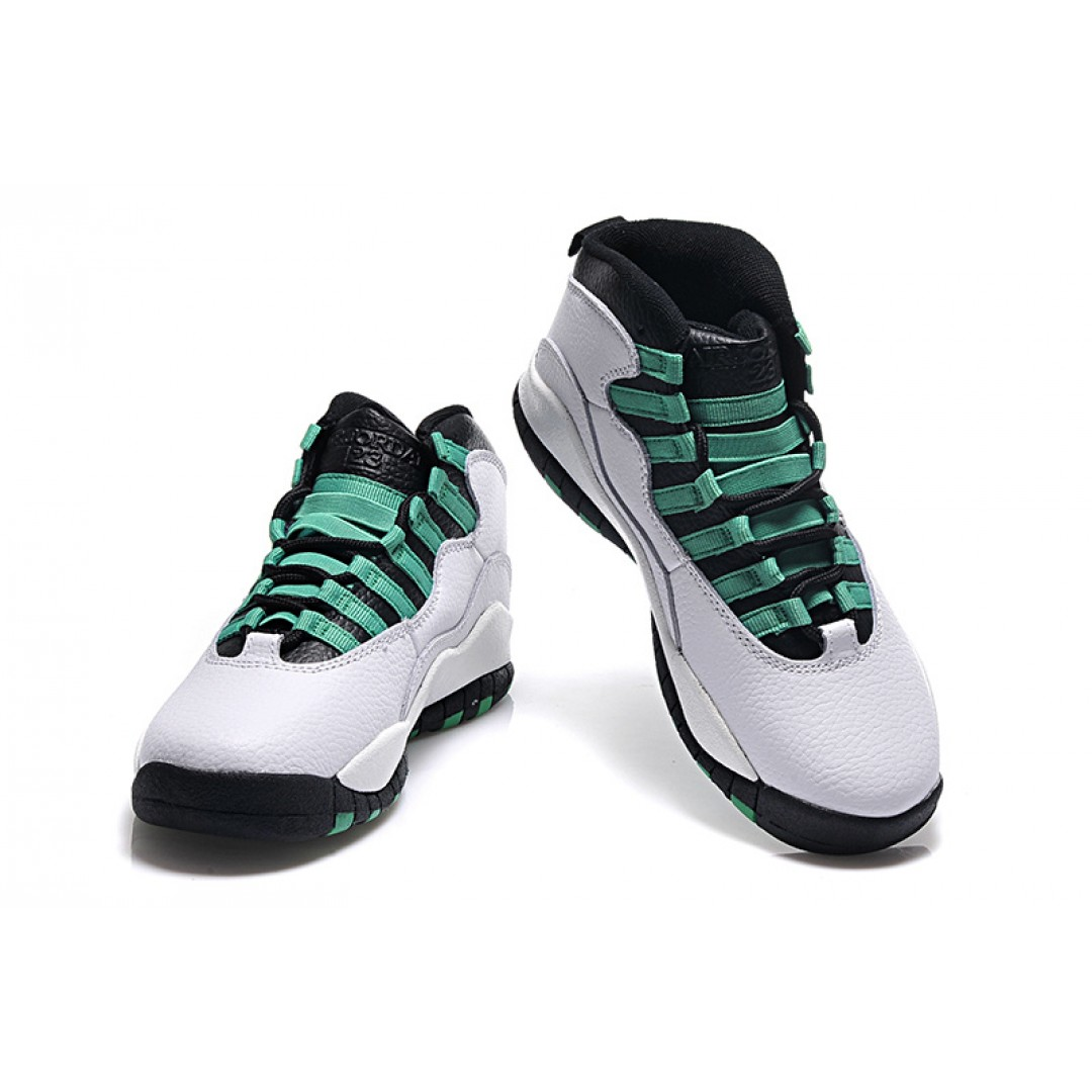air jordan 10 retro bulls over broadway white green price women jordan shoes women. Black Bedroom Furniture Sets. Home Design Ideas