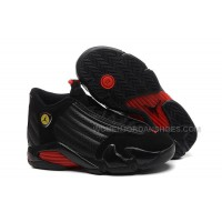 "Girls Air Jordan 14 Retro GS ""Last Shot"" Black-Red On Sale"