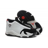 "Girls Air Jordan 14 Retro GS ""Black Toe"" White/Black-Varsity- Red Sale"