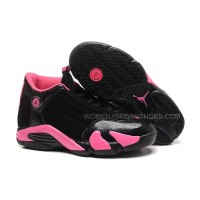 Girls Air Jordan 14 Retro GS Black/Desert Pink On Sale Womens Size