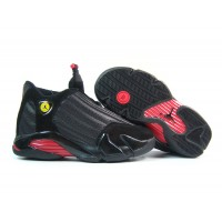 Women Air Jordan 14 Black Varsity Red