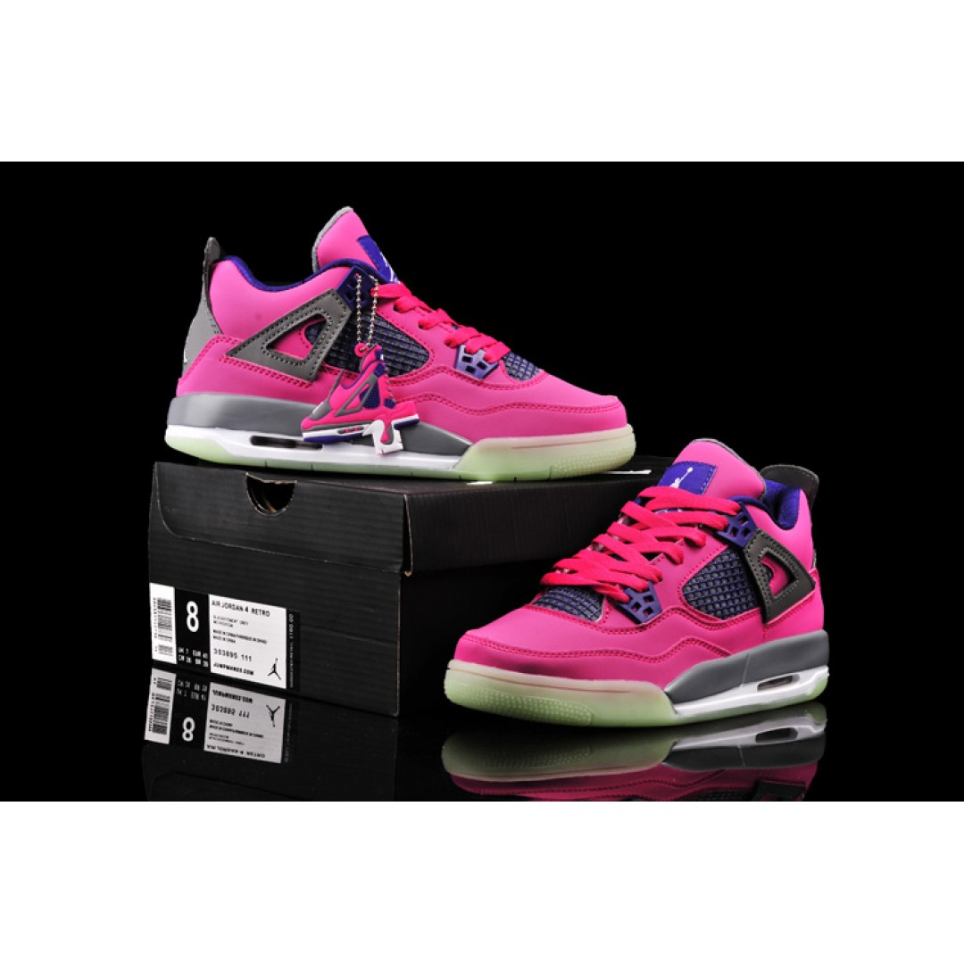 Women Air Jordan 4 glow shoes 34 , Price: $71.46 - Women ...