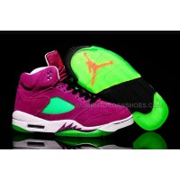 "Air Jordan 5 Retro GS ""Purple Urkel"" Purple Green Suede For Sale"