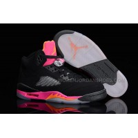 "Air Jordan 5 Retro GS ""Pink Citrus"" Black/Bright Citrus-Fusion Pink Sale"