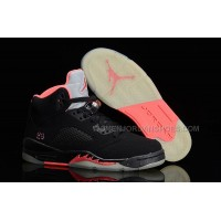 Air Jordan 5 Retro GS Black/Pink Womens Size Cheap For Sale