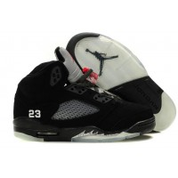 Women Air Jordan 5 Black Nubuck