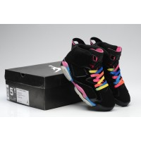 Women Air Jordan 6 Black Rainbow