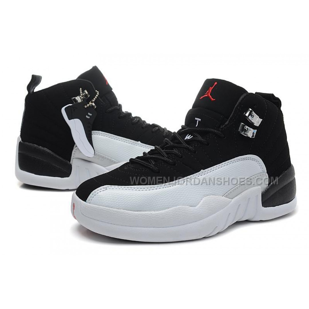 jordan shoes for girls black and white. womens air jordan 12 girls size \u201cplayoffs\u201d black and white for sale shoes
