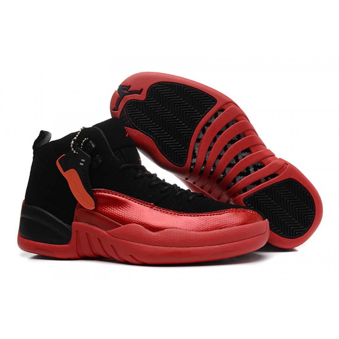 Women Jordan 12 Retro Black Varsity Red , Women Jordan Shoes - Women Jordans Shoes - Jordan Shoes for Women