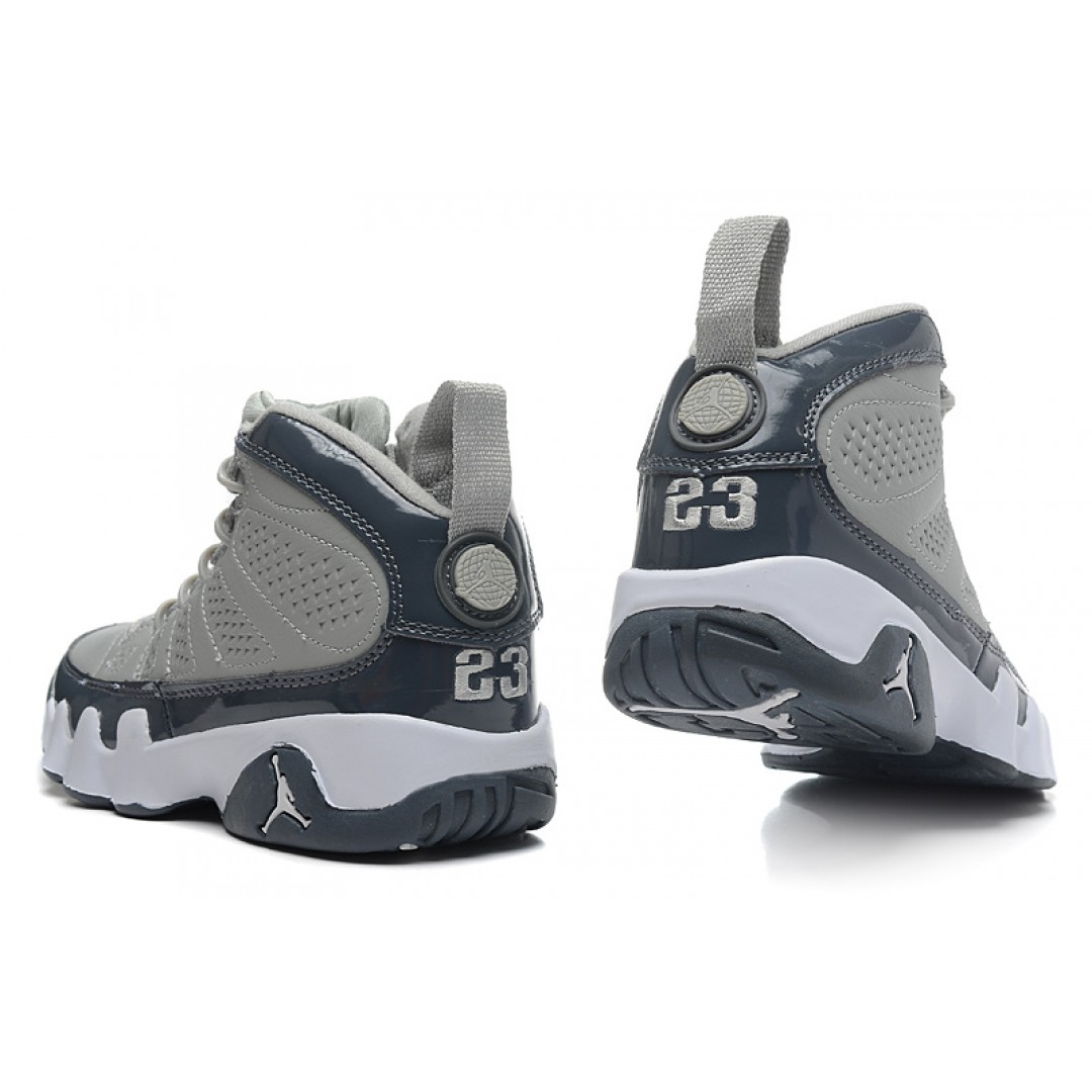 ... women air jordan retro 9 medium grey white cool grey ...