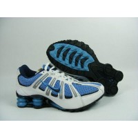 Women Nike Shox Turbo White Royal Blue Black