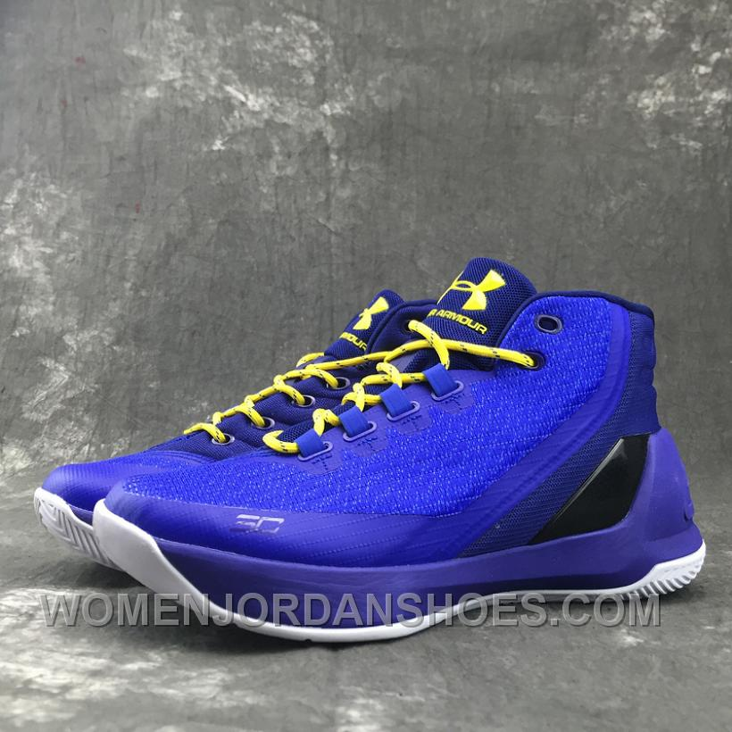 "Under Armour Curry 3 ""Dub Nation Heritage"" High Top Royal Blue"