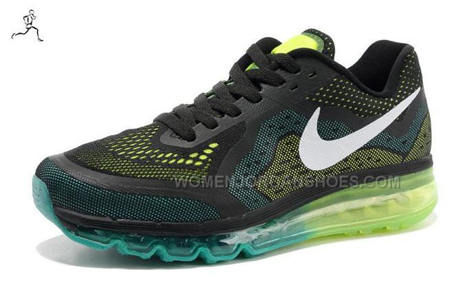 Air Max 2014 Running Shoes Black Tiffany Blue Volt White Men's S