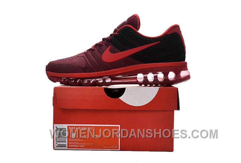 Authentic Nike Air Max 2017 KPU Wine Red Black New Style RXMNXrn