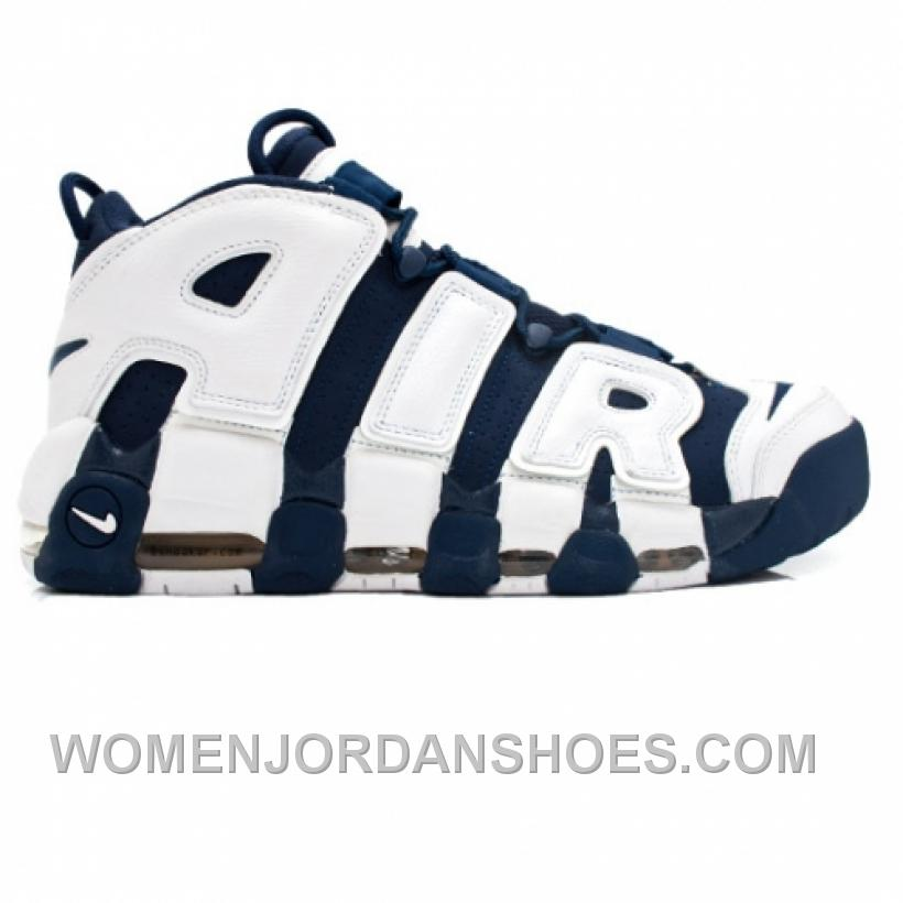 Nike Air More Uptempo Olympic Scottie Pippen 414962-401 Midnight Navy White Spirit Red 7Fb3j