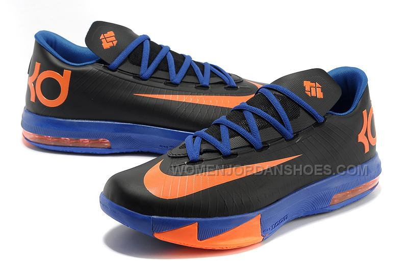Nike Kevin Durant KD 6 VI Black-Orange/Royal Blue For Sale