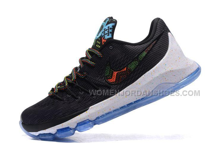 "Nike KD 8 ""BHM"" Black/Multi-Color For Sale"