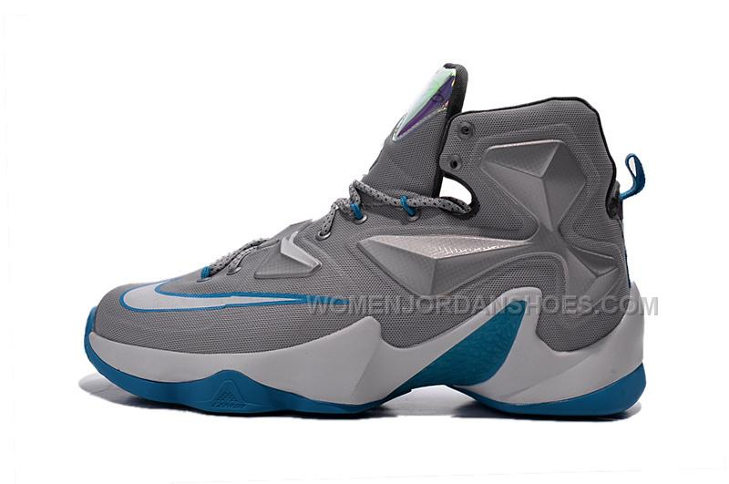 Grey Nike Shoes With Colored Swoosh