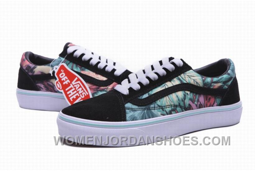 Vans Old Skool Rainforest Black Mint Green Mens Shoes QACTf