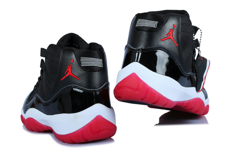 ... Women Air Jordan 11 Black Varsity Red White ...