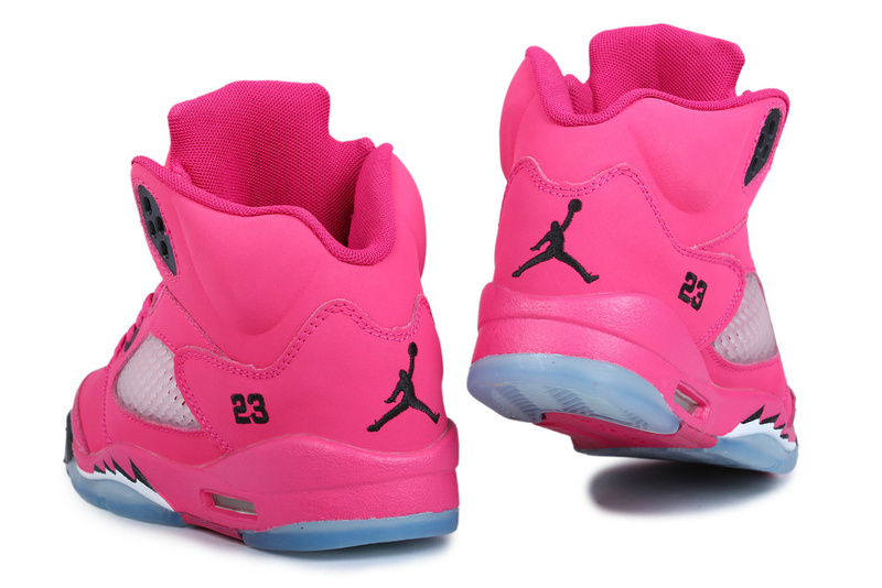 Women Air Jordan 5 Hot Pink Black