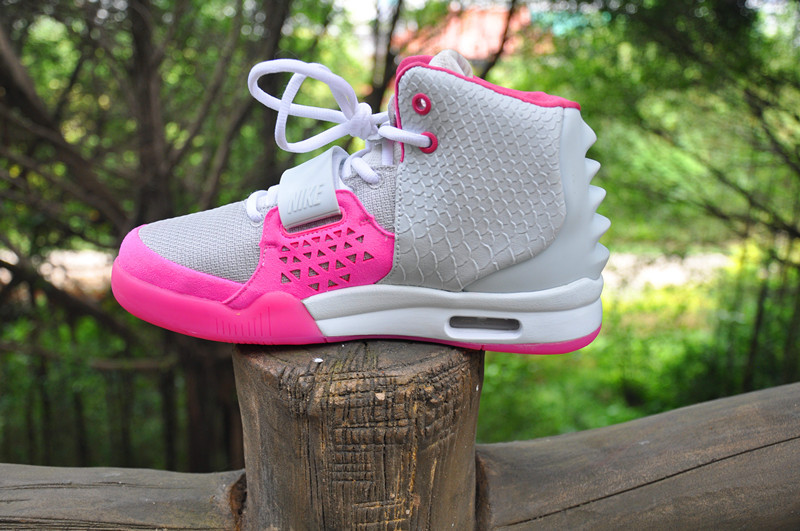 Womens Air Yeezys Grey Pink shoes