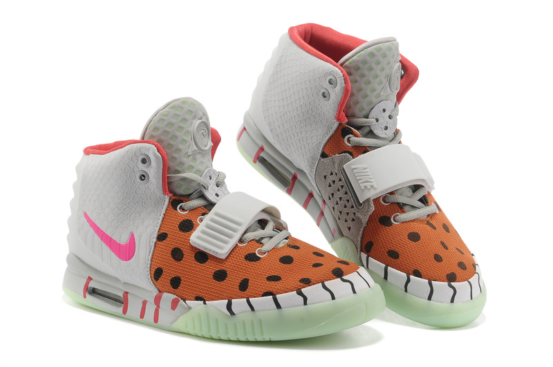 Womens Nike Air Yeezy 2 White Orange ...
