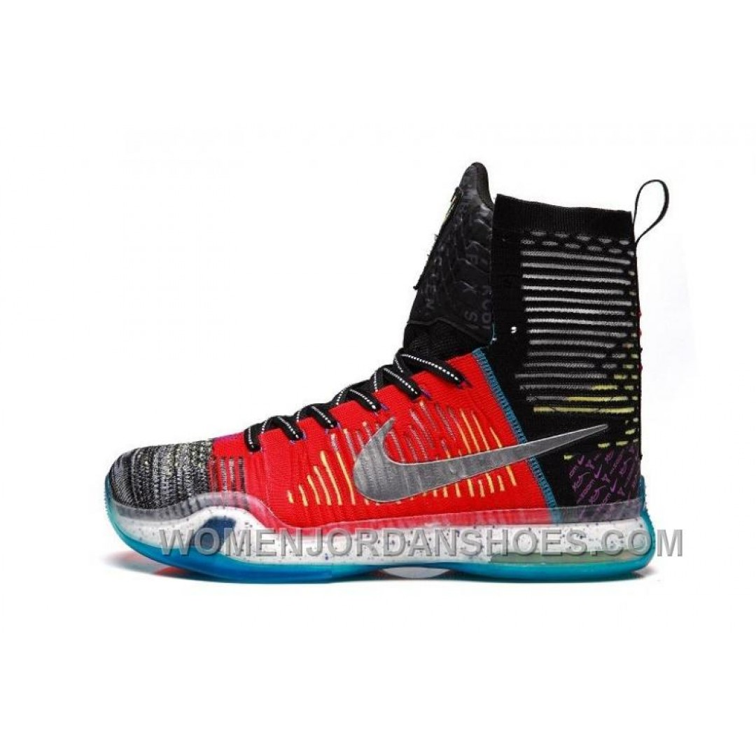 ... Nike Kobe 10 Elite High SE \u201cWhat The\u201d Multi-color/Reflective Silver ...